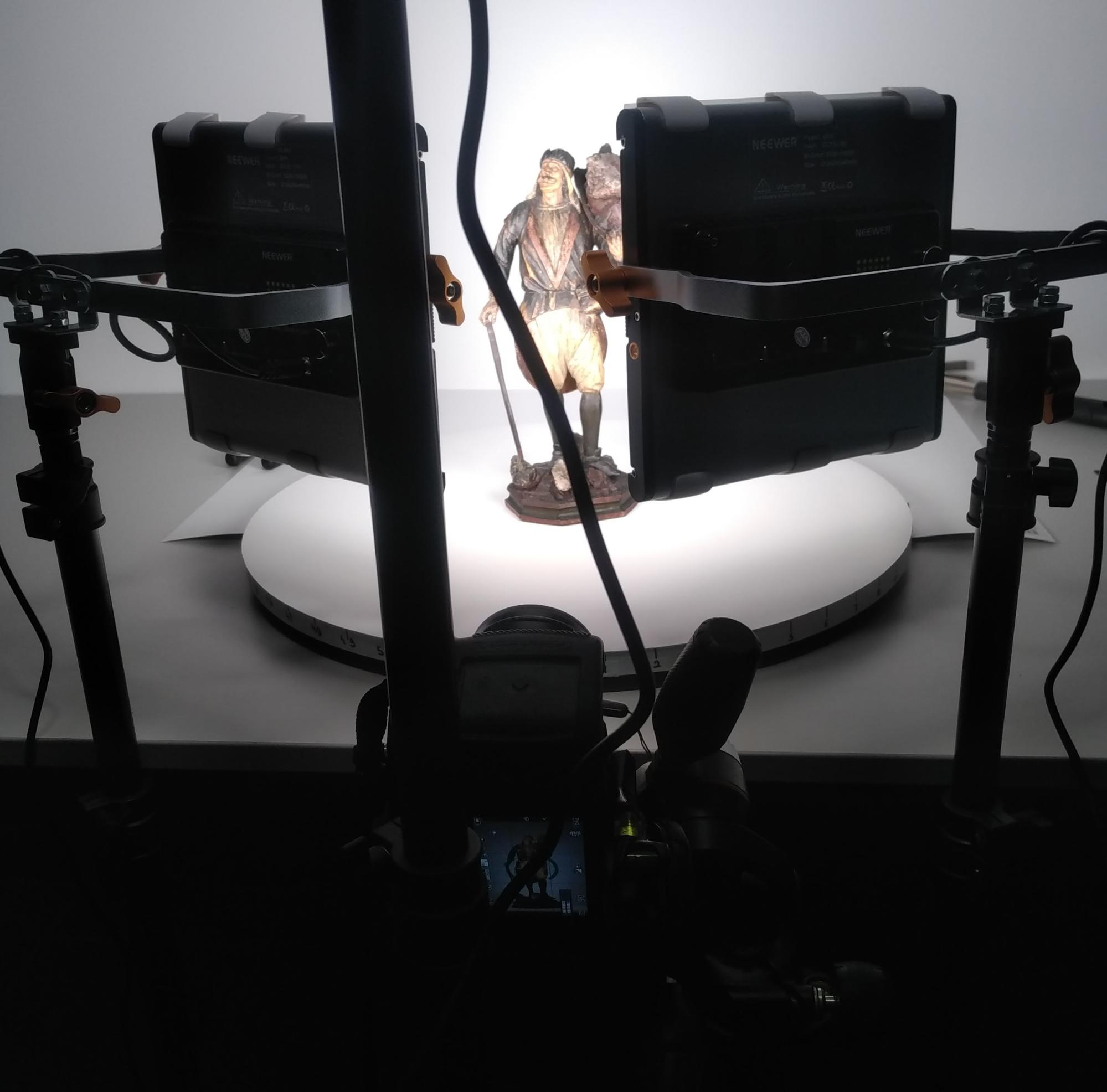 photogrammetry lighting setup