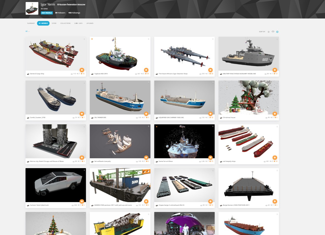 sketchfab boat models