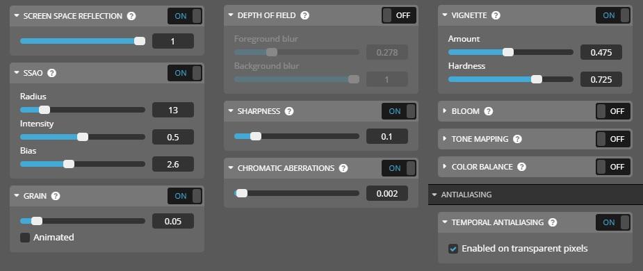 sketchfab 3d editor settings
