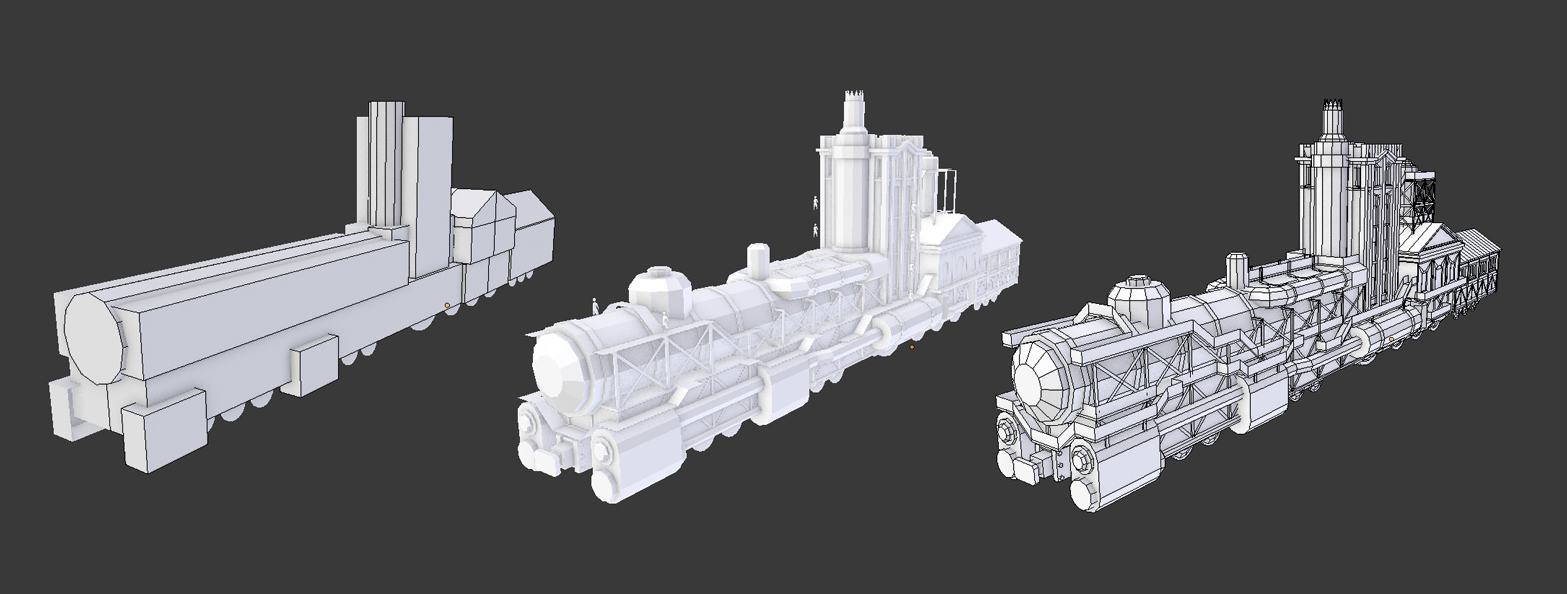 steam ops train modeling