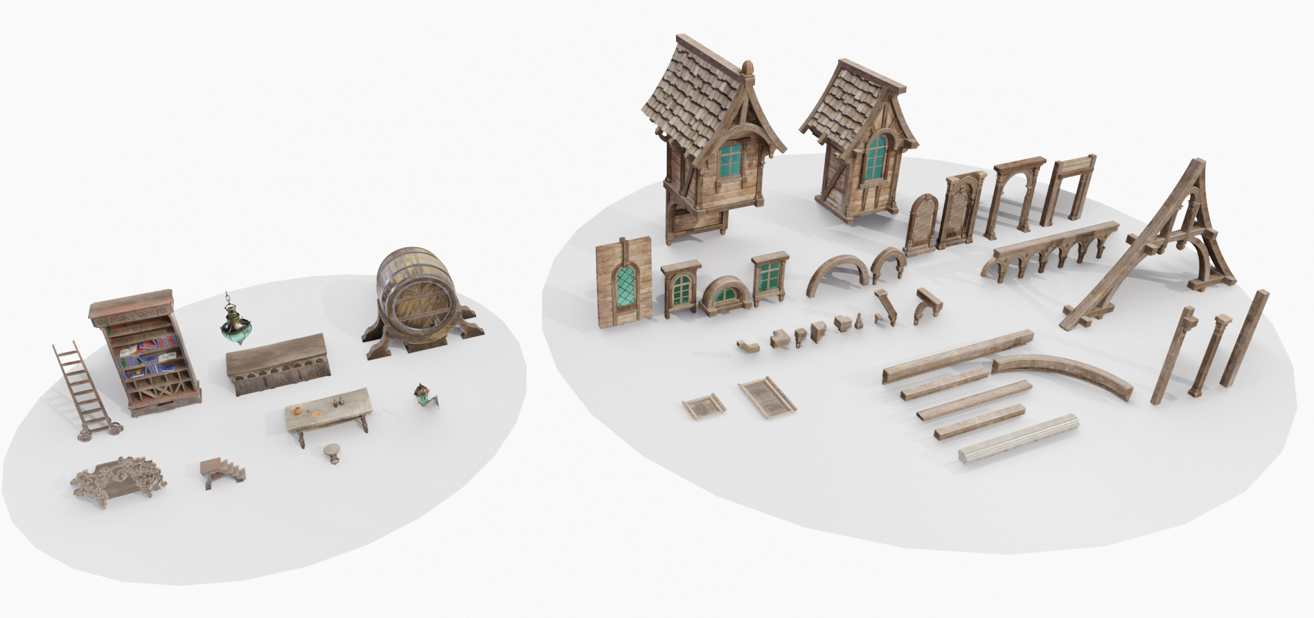 wooden tavern models