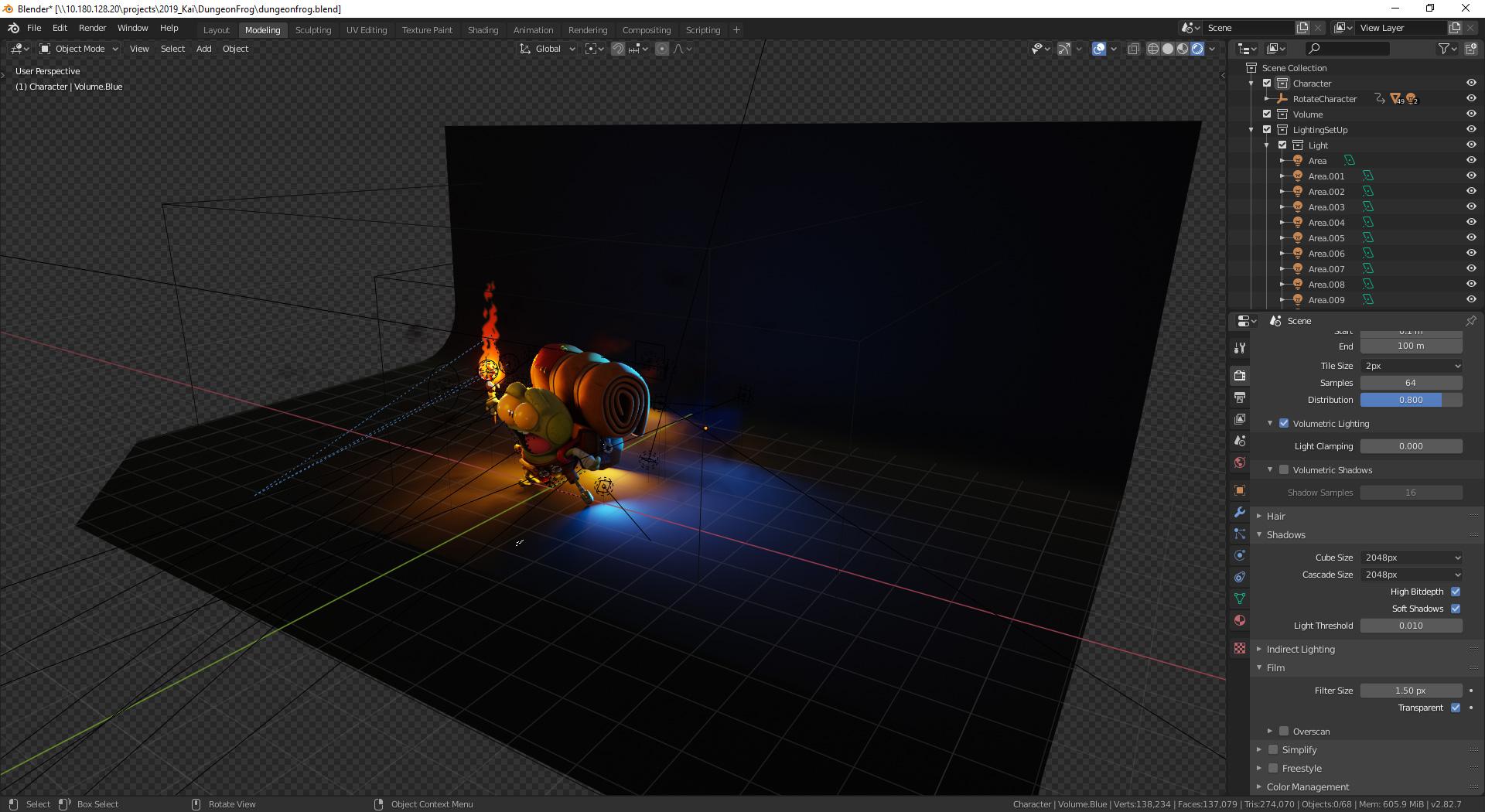 grog the adventurer lighting