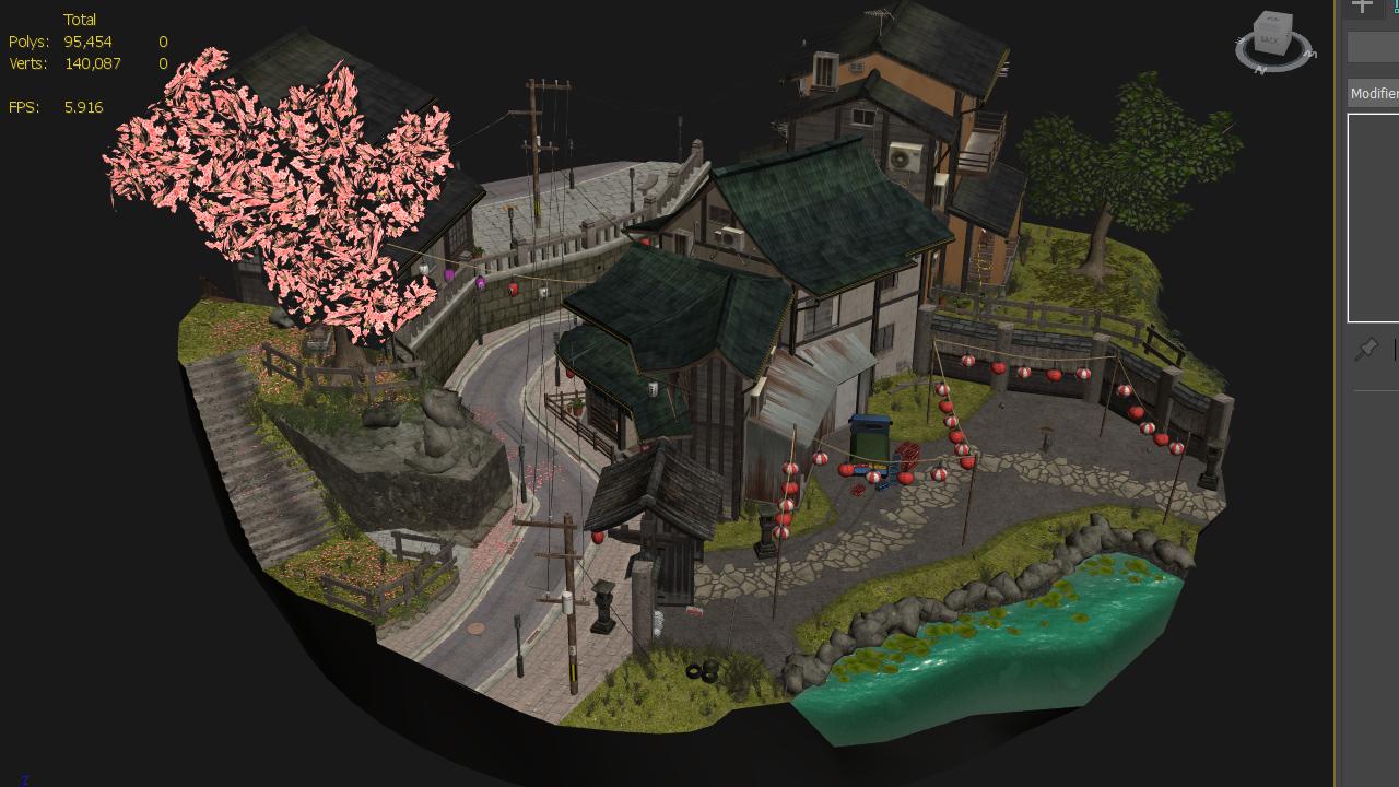 kyoto cityscene upload to sketchfab