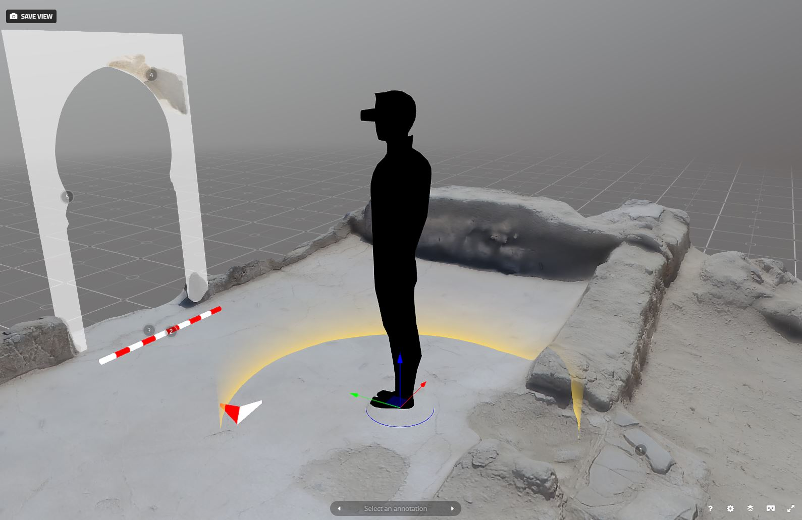 VR archaeology experience