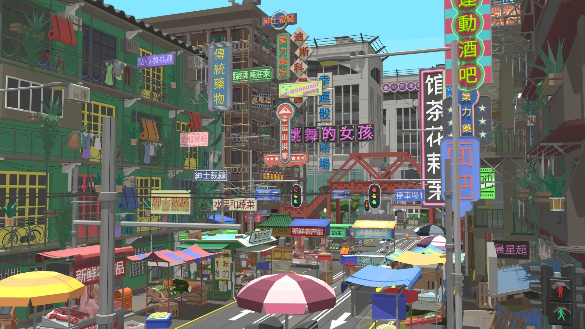 lucky mountain games city scene
