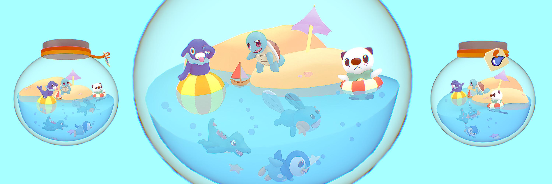 Sketchfab Community Blog Art Spotlight Water Type Pokemon Terrarium