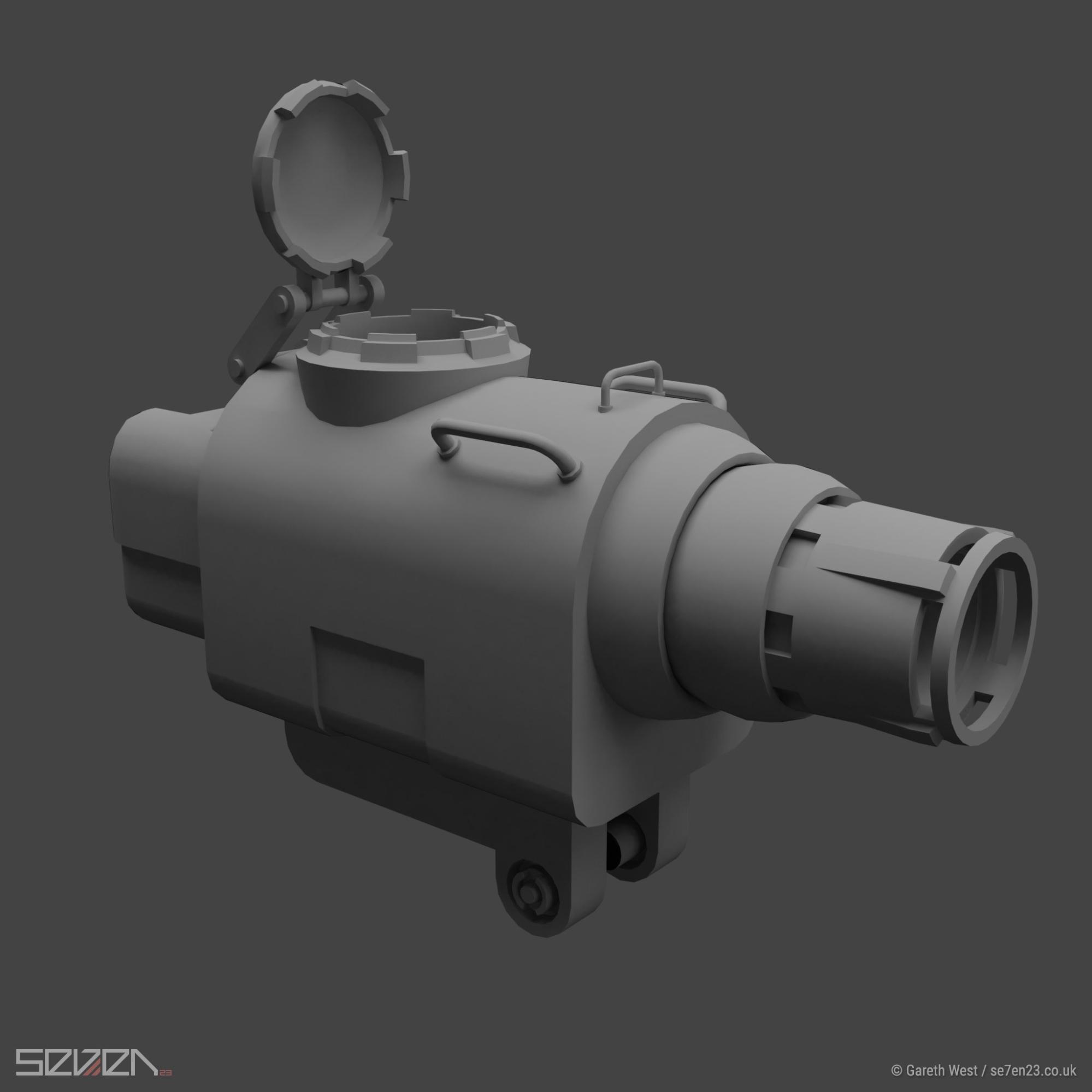 Low Poly Dieselpunk Airboat/Gunship hatch