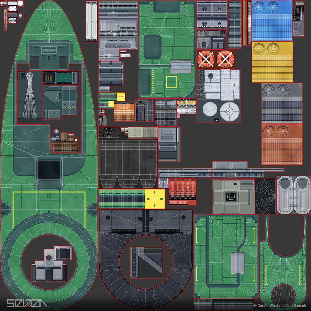 Low Poly Dieselpunk Airboat/Gunship texture