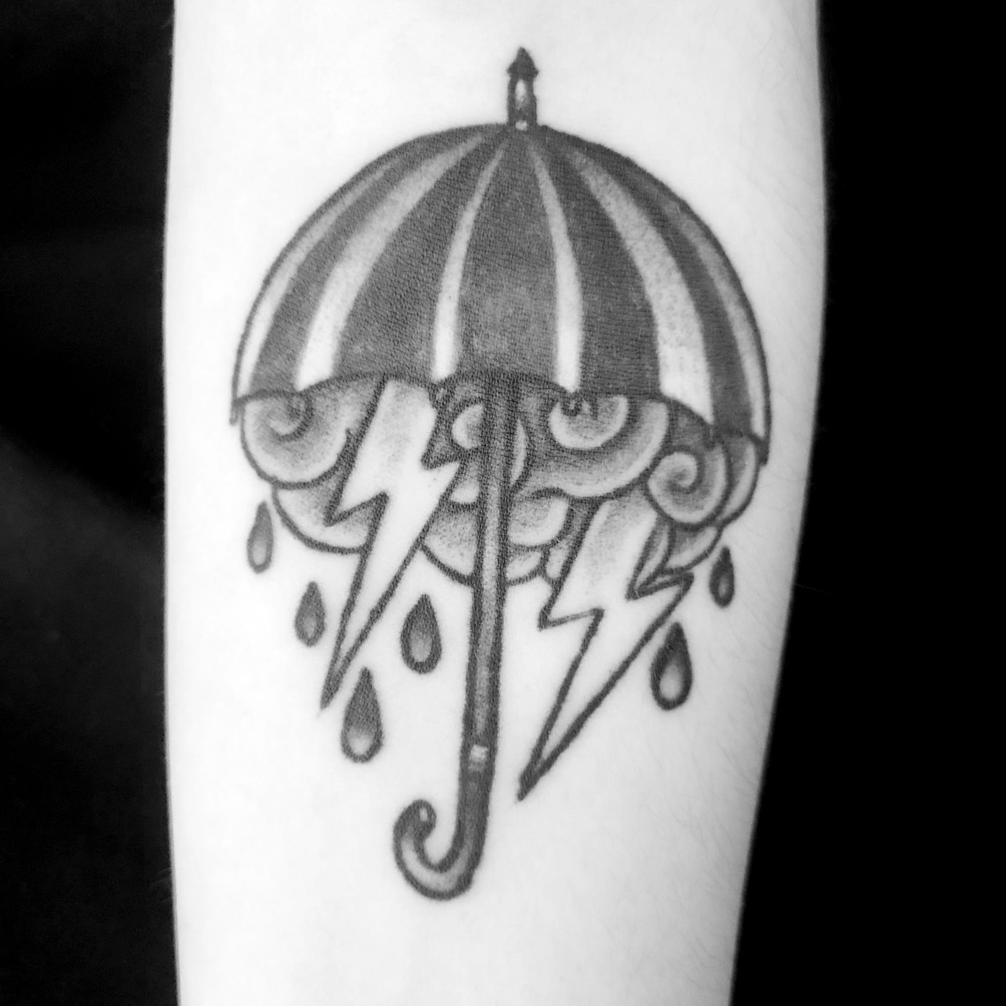 rainy days concept tattoo