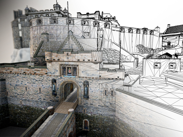 edinburgh castle 3d