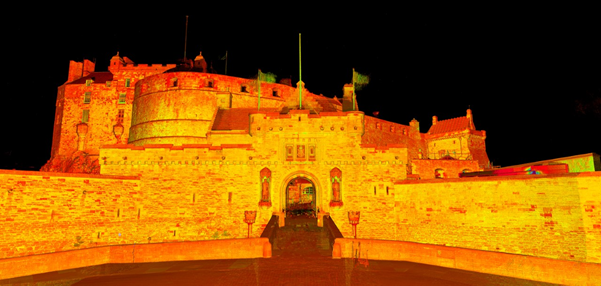 edinburgh castle data capture scan