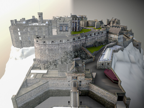 edinburgh castle sketchfab