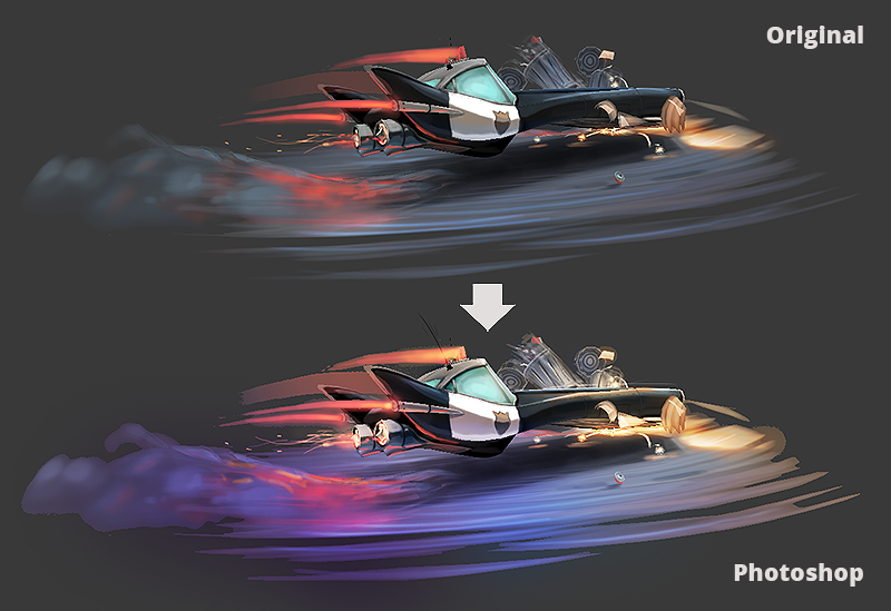 police chase texture fix