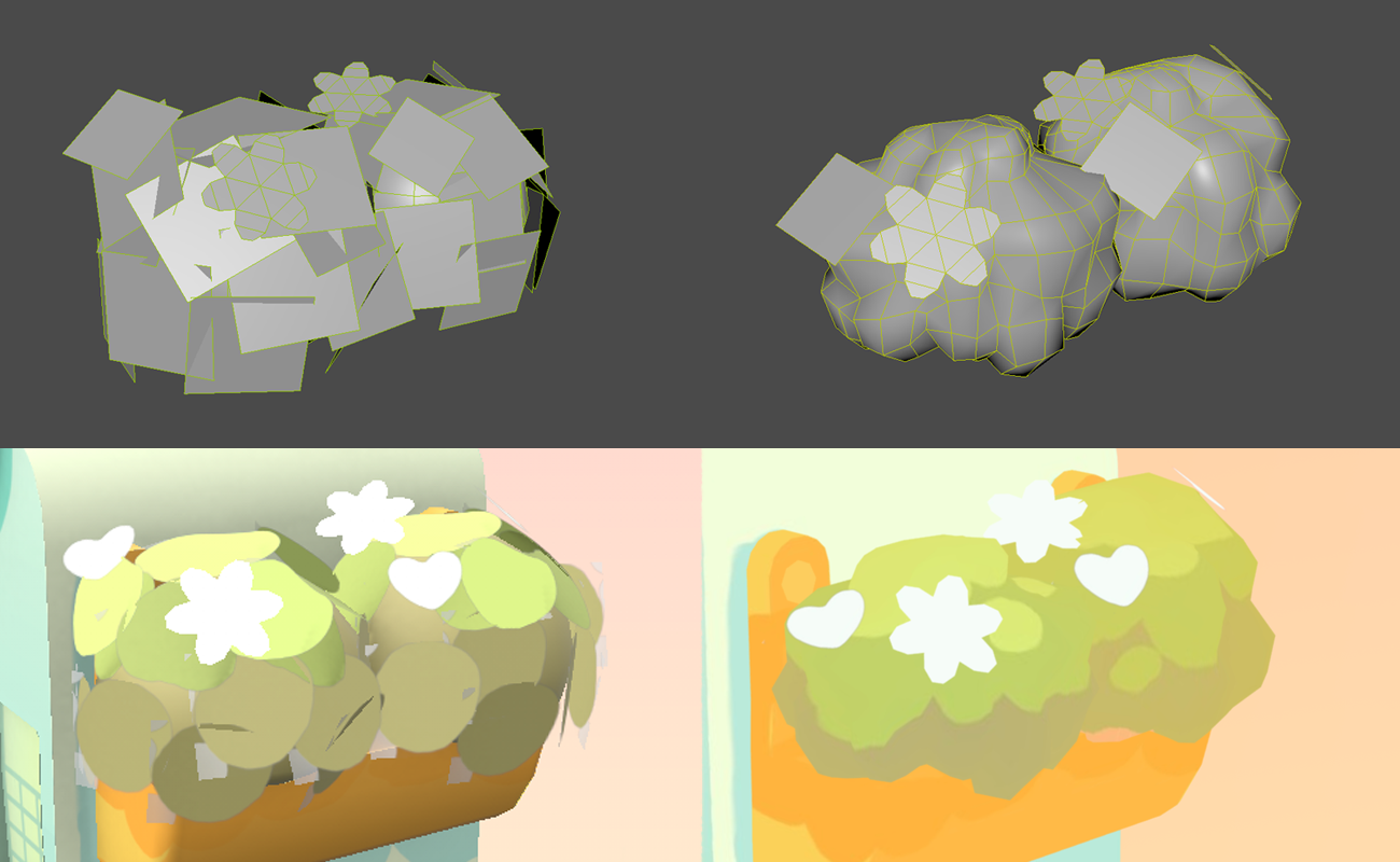 low poly plant texture