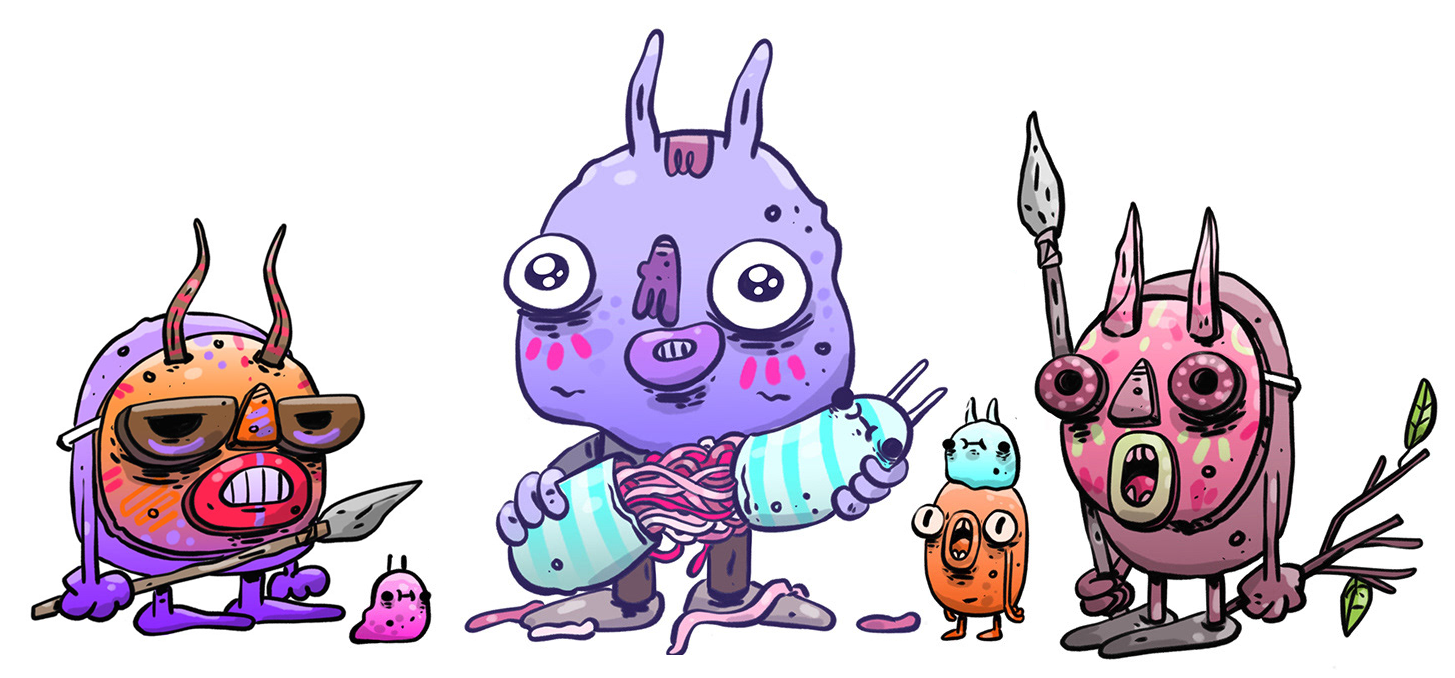 astro's monsters concept