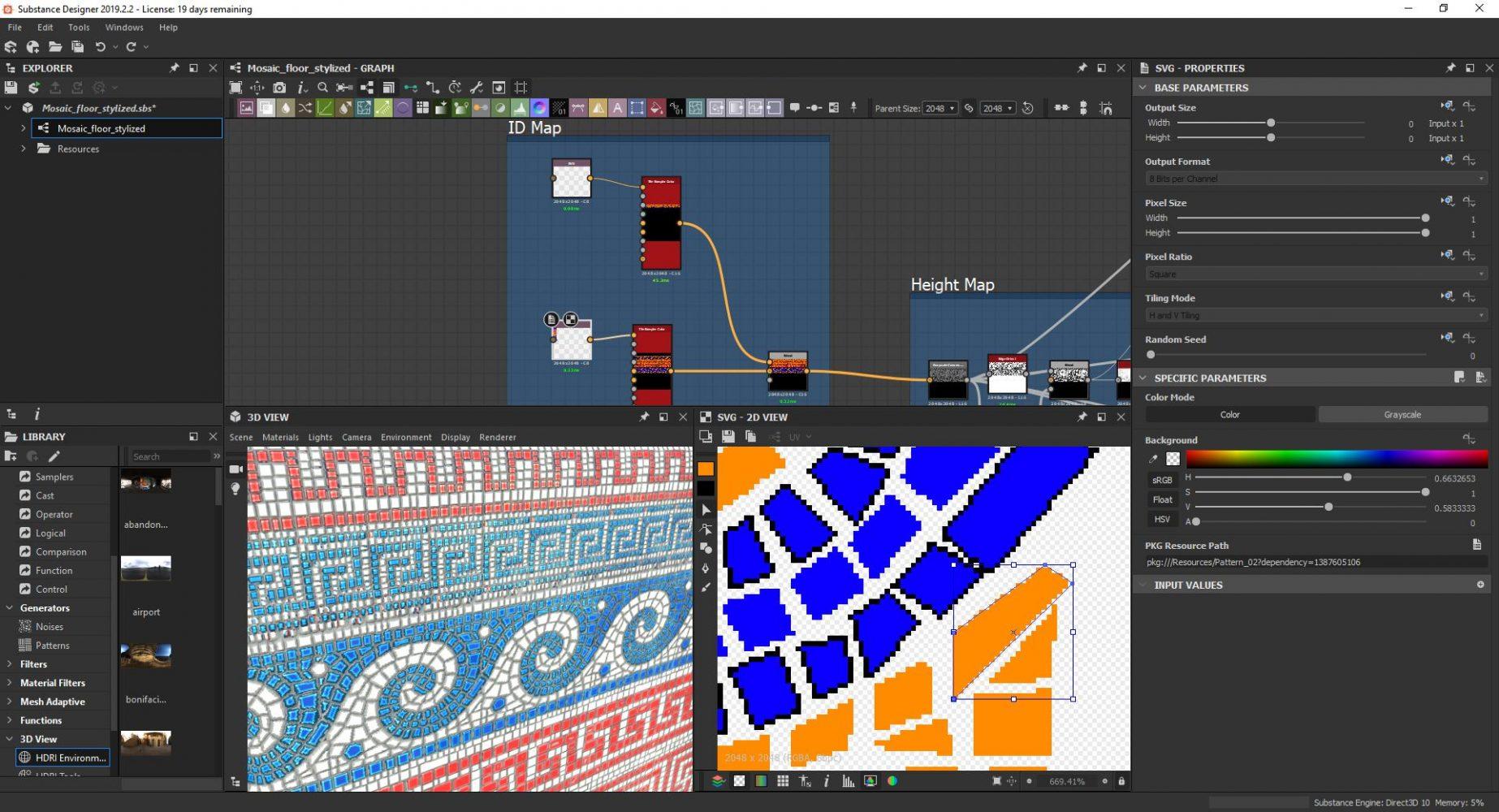 SVG substance designer mosaic