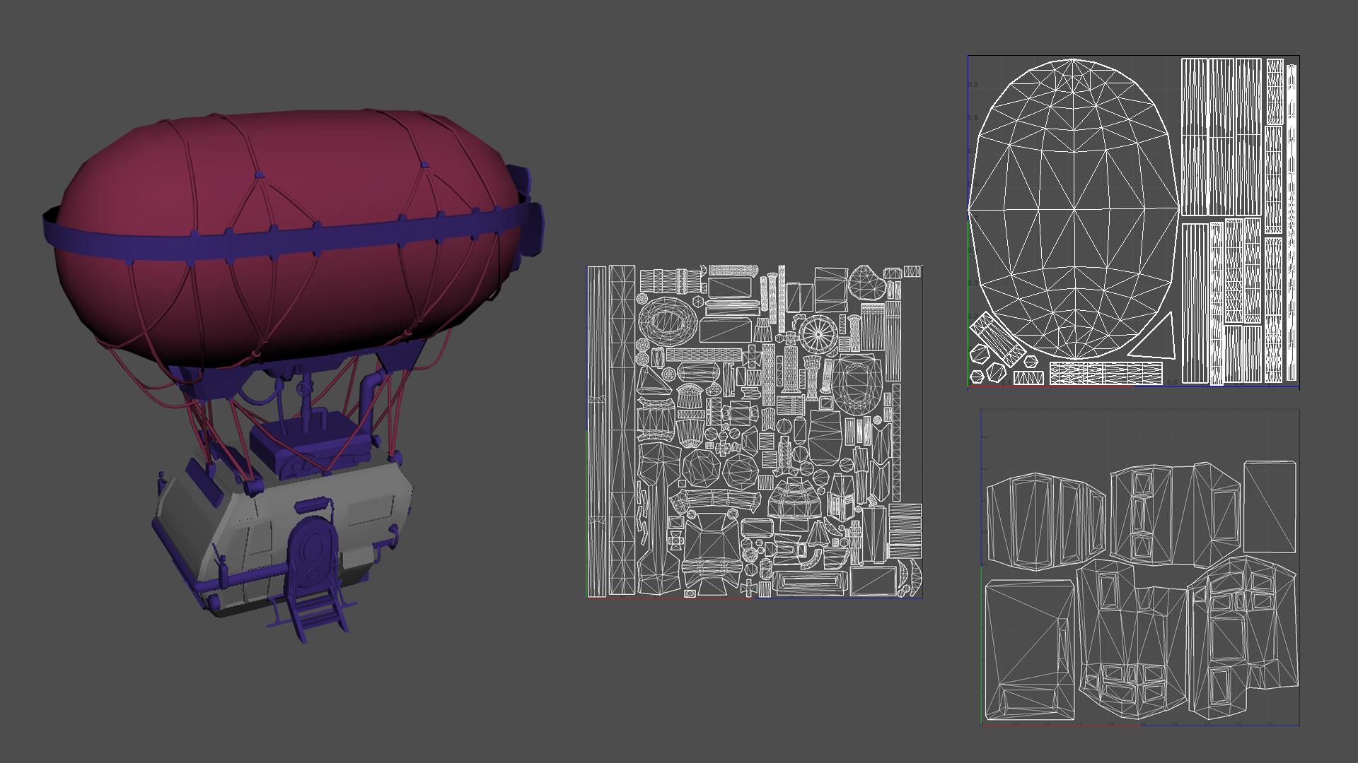 air express airship UVs