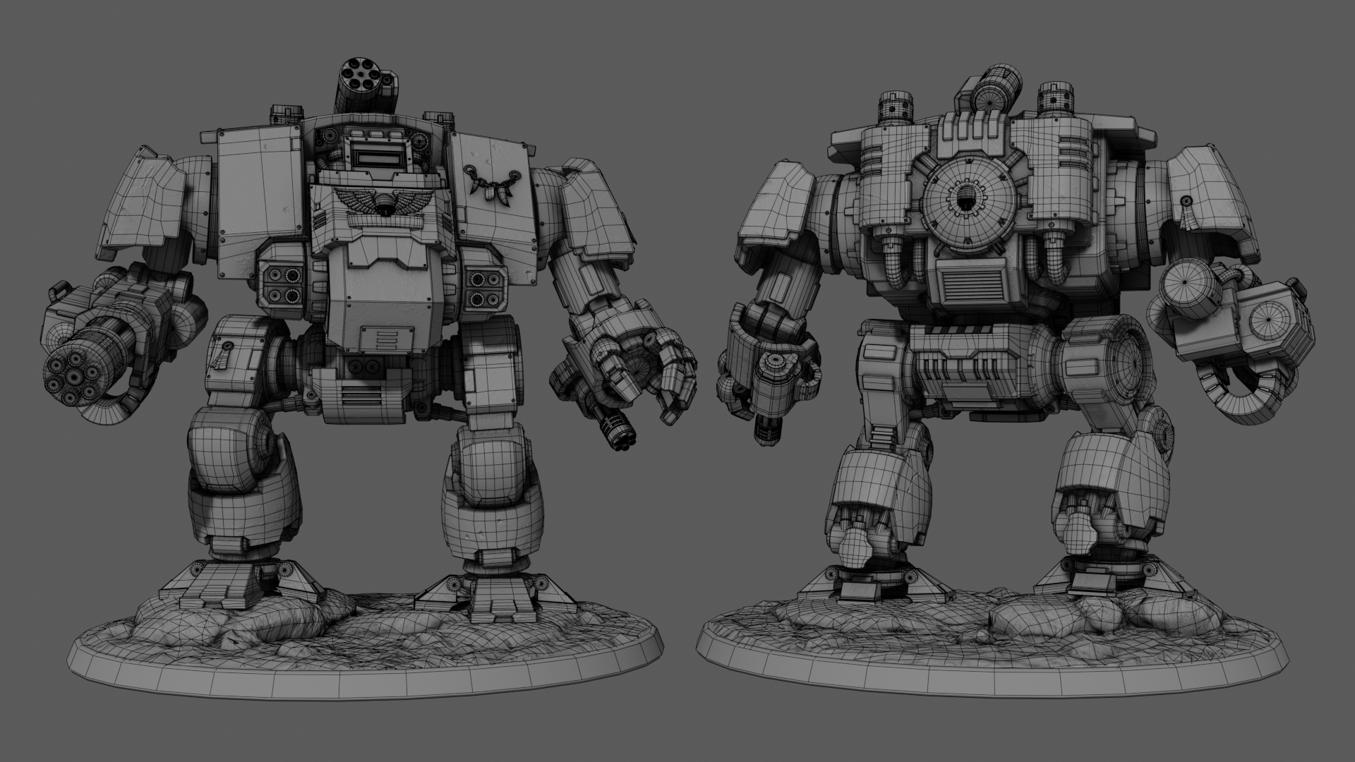 dreadnought redemptor wireframe
