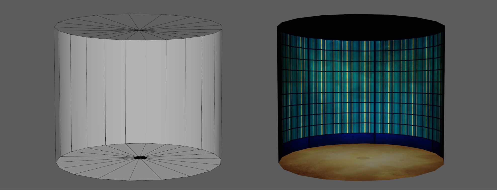 Maya background cylinder