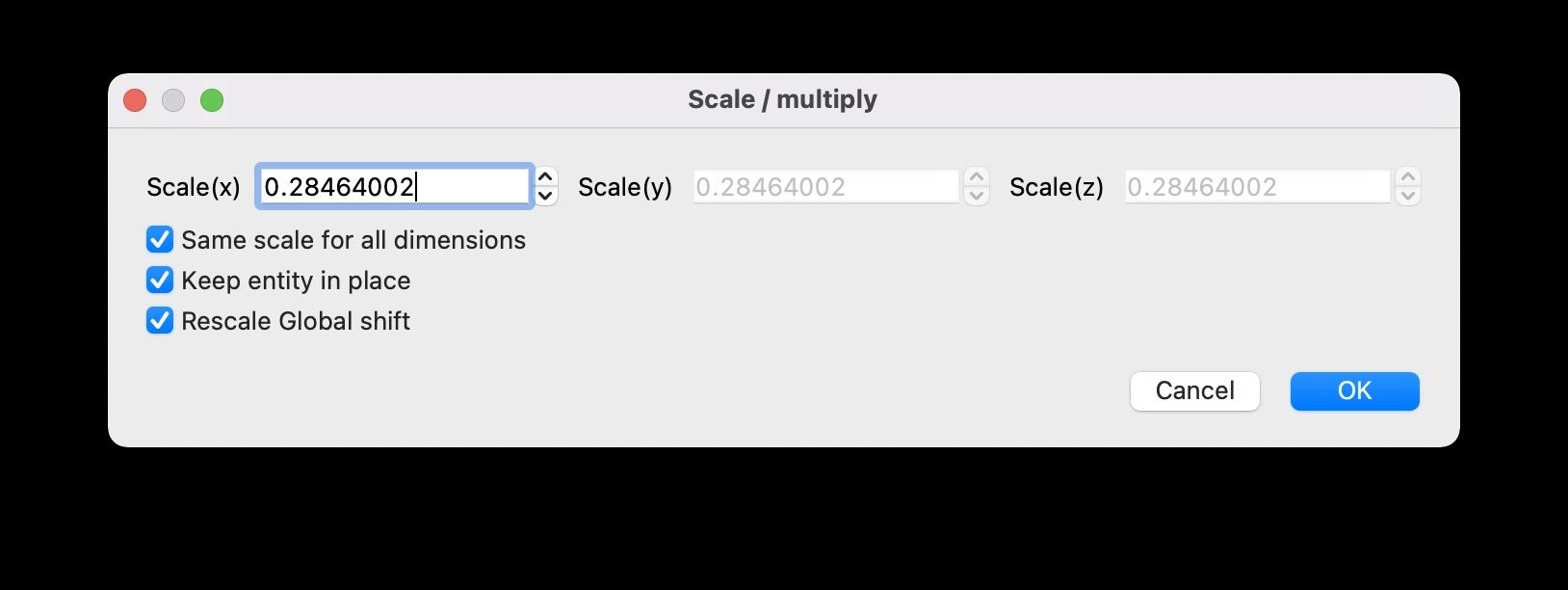 CloudCompare scale-multiply image