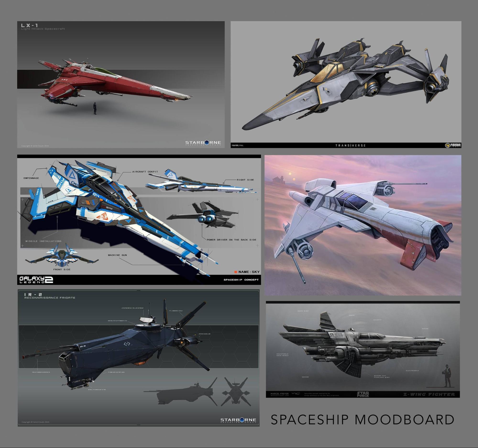 spaceship moodboard