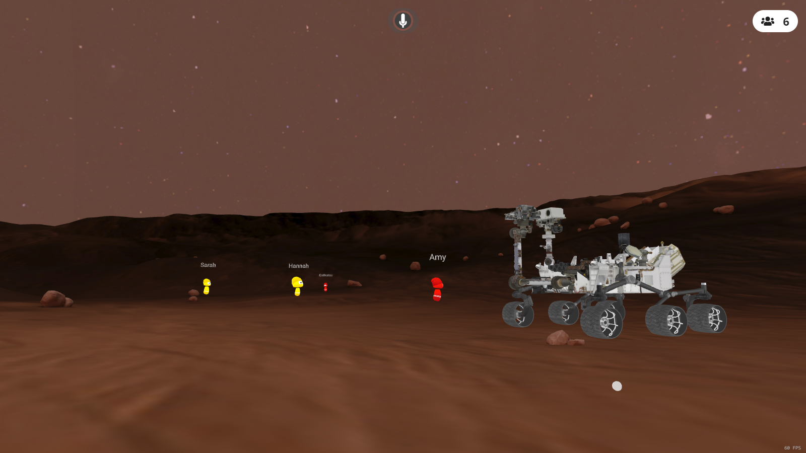 mars rover 3d model in vr image