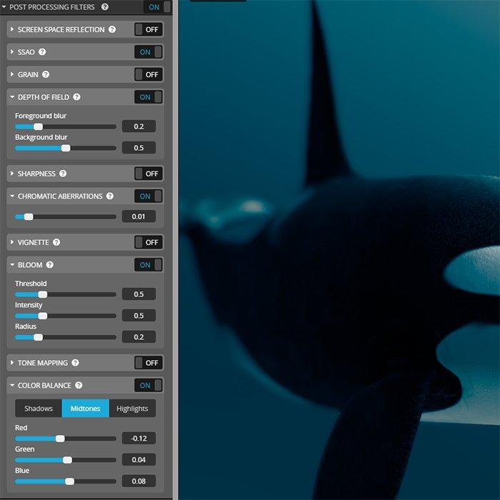 sketchfab post processing settings image