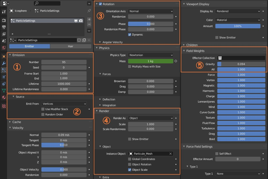 blender particle system settings image
