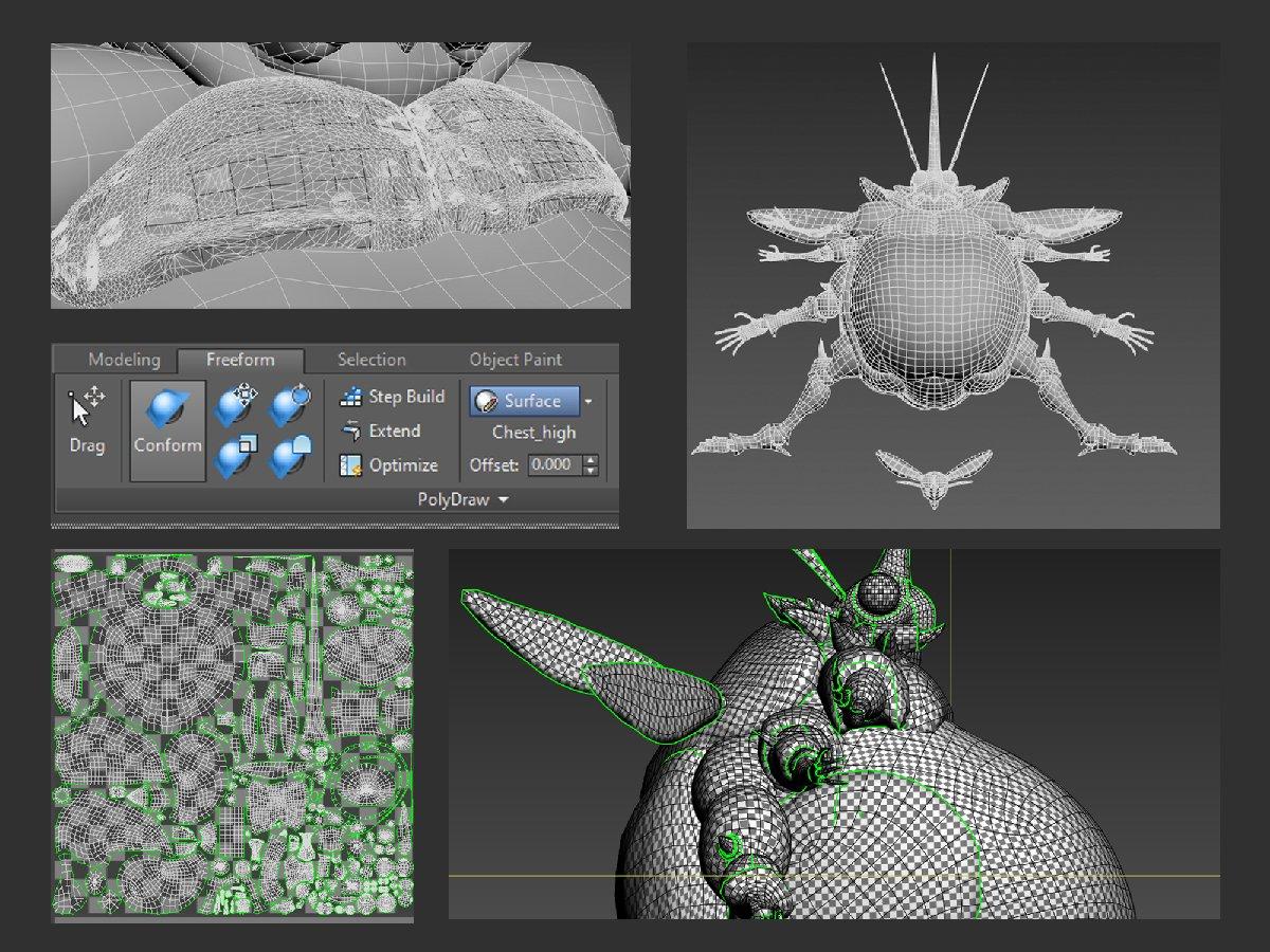 big buggus retopology image