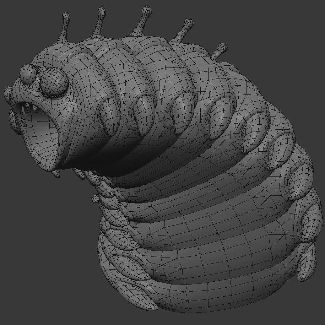 bug butcher caterpillar mesh image