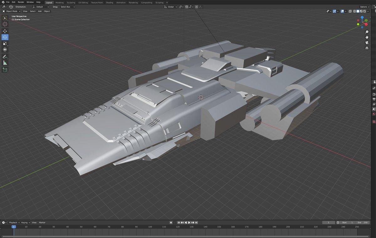 blender starship modeling image