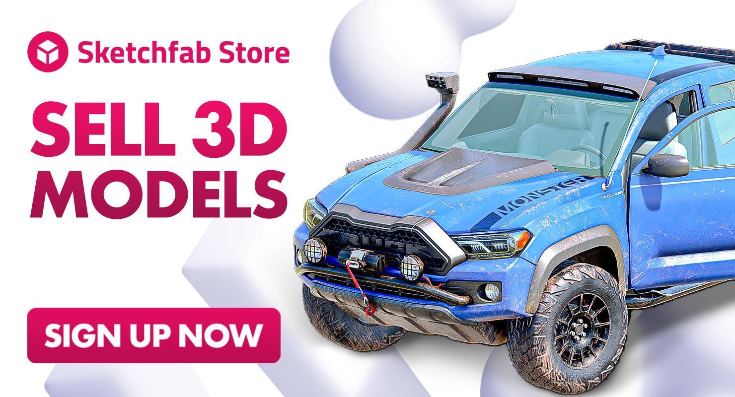 Sell on Sketchfab Store