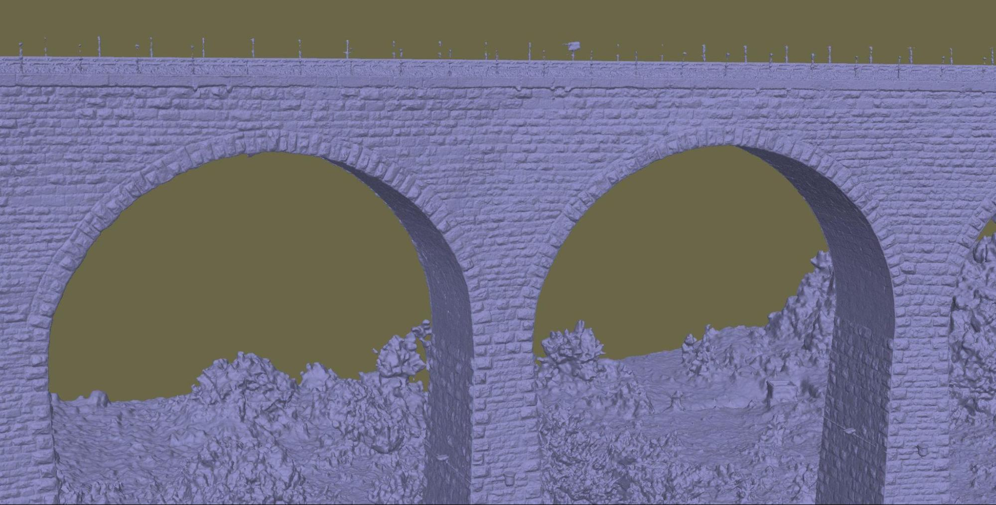manari stone bridge 3d mesh image