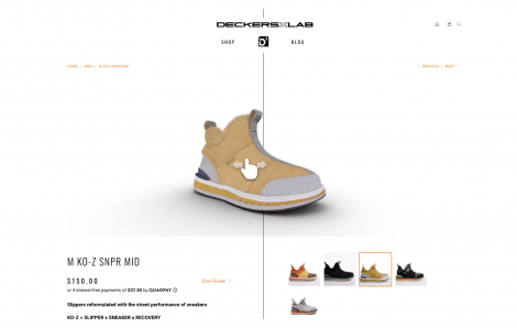 Deckers Brands Creates Interactive eCommerce Experiences With Sketchfab