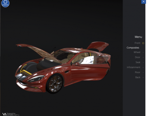 An Interactive 3D Portfolio for Coats Automotive