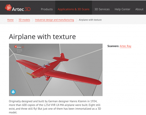 Artec 3D Leverages Sketchfab's 3D Viewer to Showcase High Poly 3D Models on its Website