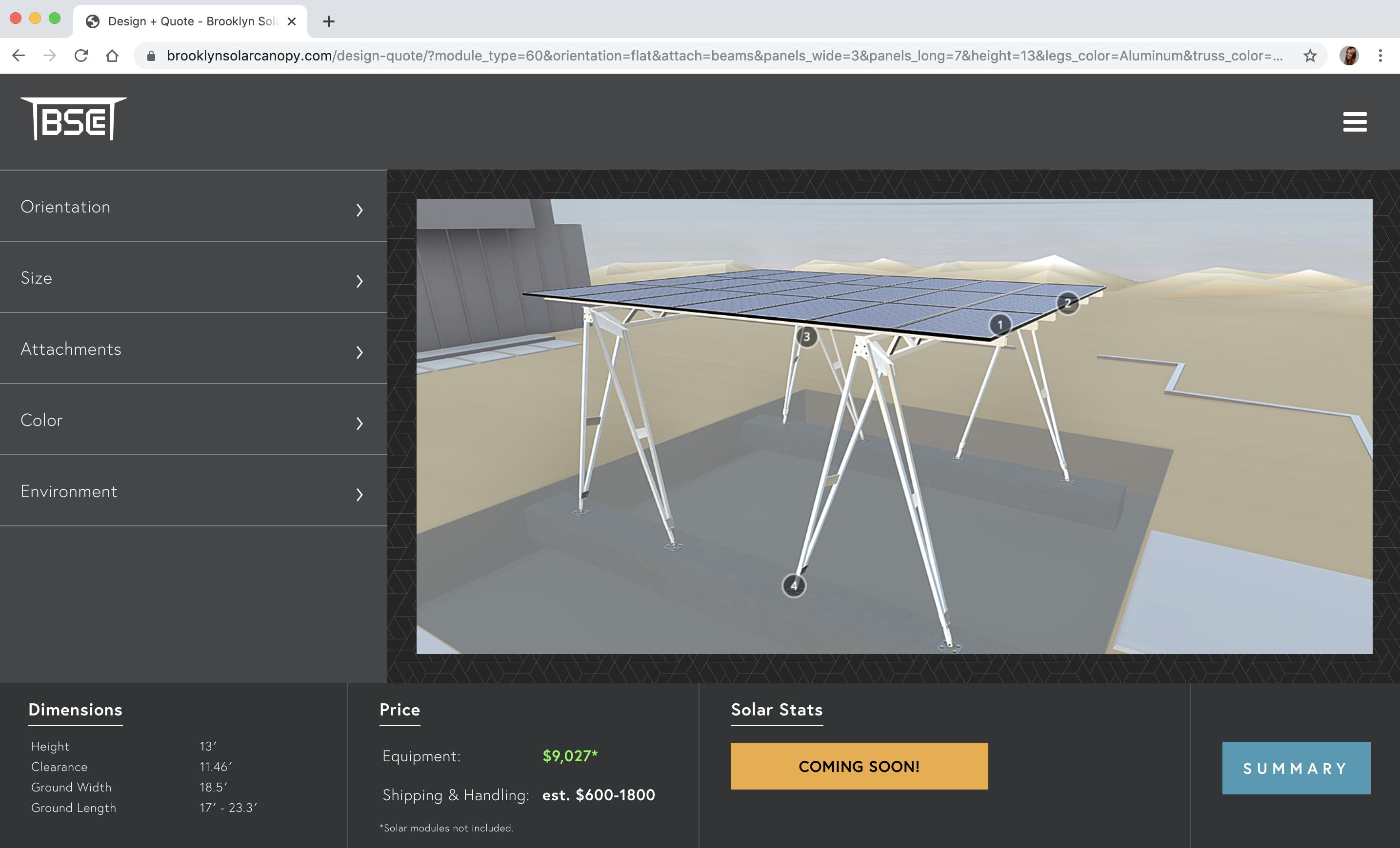 3d product configurator solar pannels